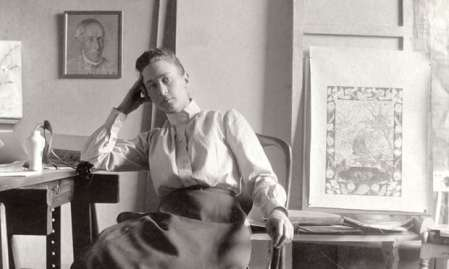 Artist Hilma af Klint in her studio at Hamngatan Stockholm circa 1895. PhotographCourtesy of Stiftelsen Hilma af Klints Verk