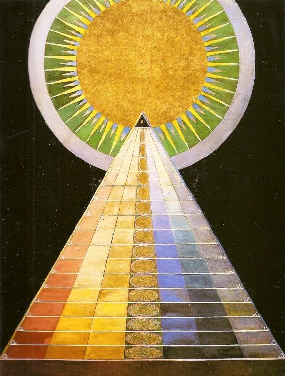 Klint - Untitled 1,1915, oil on gold on canvas