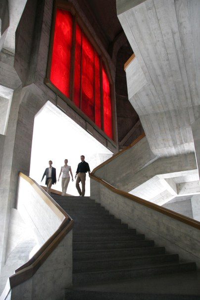 West stair Red Window at the Goetheanum_Photographer Charlott Fischer
