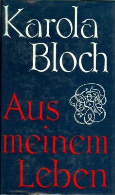 Karola-Bloch+Aus-meinem-Leben