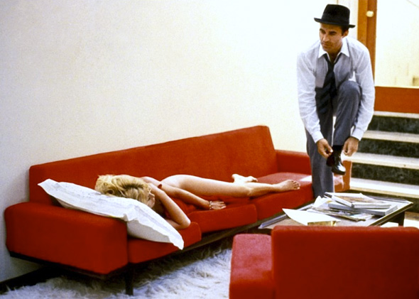 Brigitte Bardot as Camille, Michel Piccoli as Paul Javal in Jean